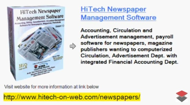 Business Management and Online Financial Accounting Software, We develop web based applications and Financial Accounting and Business Management software for Newspapers, Magazine, Tabloids etc.