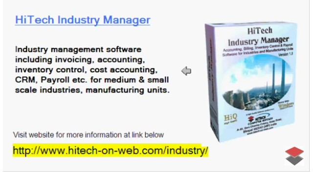 Financial Accounting Software for Business, Trade, Industry, Use HiTech Financial Accounting and Business Management Software made specifically for users in Industry. Increase profitability through enhanced business management.